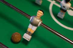 Table football figure. With the ball Stock Image