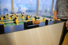 Table football - focus to score mark Royalty Free Stock Image