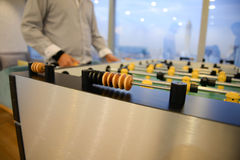 Table football - focus to score mark Royalty Free Stock Images