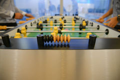Table football - focus to score mark Royalty Free Stock Photo
