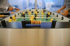 Table football - focus to score mark Royalty Free Stock Photo