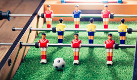 Table football game, abstract light Stock Photos