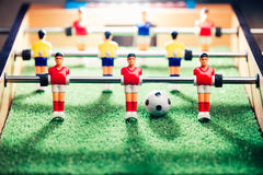 Table football game, abstract light Stock Photo