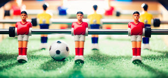 Table football game, abstract light Royalty Free Stock Images