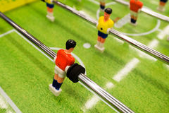 Table football game close up shot Stock Images
