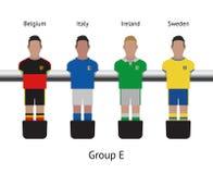 Table football game. foosball soccer player set. Belgium, Italy, Ireland, Sweden Royalty Free Stock Image