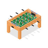 Table Football Game Isometric View. Vector Royalty Free Stock Image