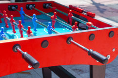 Table football game outdoors - Coloring summer by the pool, August 15, 2015 in Israel Stock Images