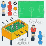 Table football icons set.  Vector illustration Stock Photos