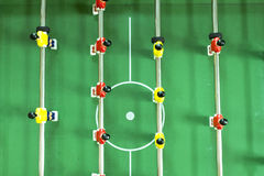 Table football passing used Royalty Free Stock Photos
