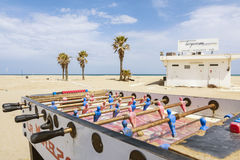 Table football and sea Royalty Free Stock Photography