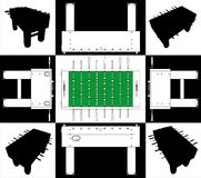 Table Football And Soccer Base And Face Vector 01 Stock Images