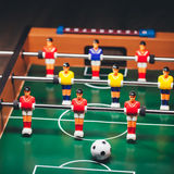 Table football soccer game (kicker). Closeup view Royalty Free Stock Image
