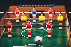 Table football soccer game (kicker). Closeup view Stock Photography