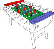 Table Football And Soccer Game Perspective Vector. Table Football And Soccer Game Perspective Royalty Free Stock Photography