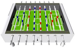 Table Football Soccer Game Perspective Vector Stock Photography
