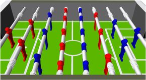 Table Football Soccer Game Perspective Vector Royalty Free Stock Images