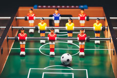 Table football soccer game (kicker) Royalty Free Stock Images