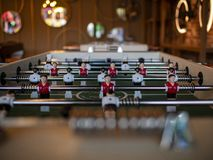 Table football soccer kicker game players royalty free stock photo