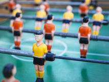 Table football Soccer players game with Red and yellow Team Stock Images