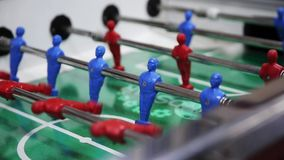 Table football, soccer table game stock video