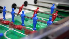 Table football, soccer table game stock video footage