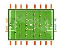 Table Football Vector Flat Design Illustration Stock Images