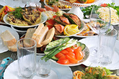 Table For A Banquet. Stock Photos