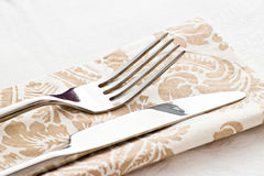 Table fork and knife Stock Image
