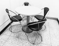 The table and four chairs royalty free stock photos