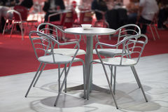 Table with four chairs Royalty Free Stock Image