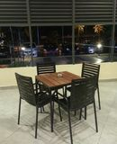 Table and four chairs street view Royalty Free Stock Photos