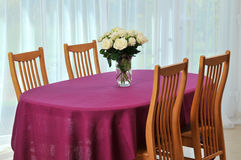 Table for four person Royalty Free Stock Photo