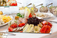 Table full of appetizers Royalty Free Stock Images