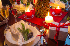 Table full of Christmas goodies Stock Image