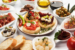 Table Full Of Appetizers Stock Image