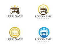 Table furniture industry logo.  Royalty Free Illustration