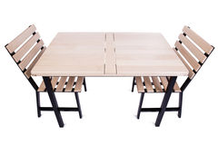 The table furniture isolated on the white Stock Photo
