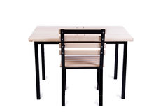 The table furniture isolated on the white Royalty Free Stock Photo