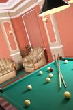 Table for game in billiards Stock Photos