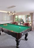 Table for game in billiards. In modern hotel Royalty Free Stock Images