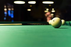 Table for game in billiards Royalty Free Stock Photos