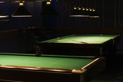 Table for game in billiards Royalty Free Stock Photography