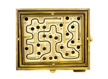 Table game labyrinth isolated Royalty Free Stock Photography