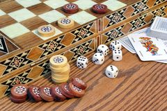 Table Games Close-up, XXXL royalty free stock photography
