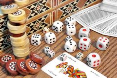 Table Games Close-up, XXXL stock photography