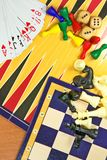 Table games mix Royalty Free Stock Photos
