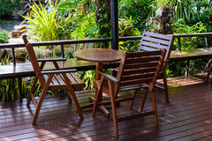 table in garden Royalty Free Stock Images