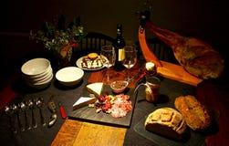 Table gastronome de fête espagnole, Noël Images stock