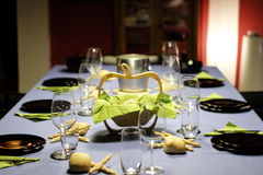 Table glasses dinner Royalty Free Stock Images